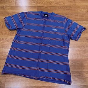Vintagey Striped Blue Stussy Tee 🌀❗️
